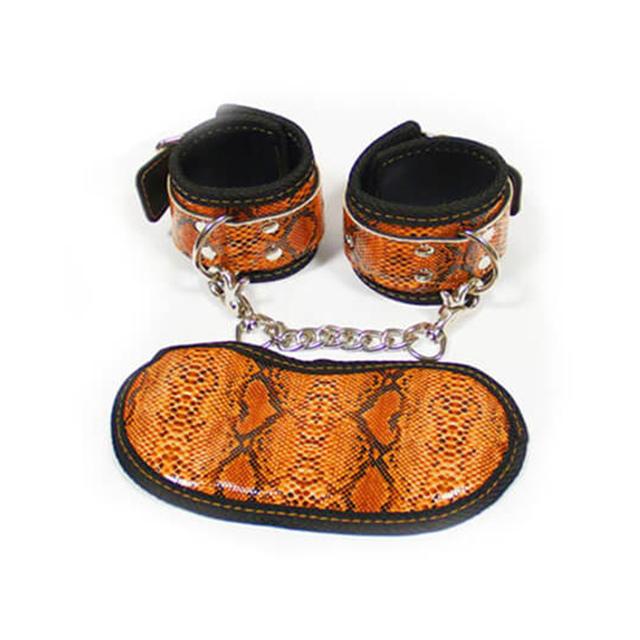 Roomfun房趣 蛇皮手铐眼罩套装