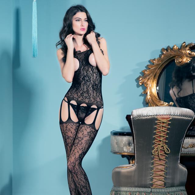 高端提花情趣内衣极度诱惑爆乳套装透明镂空连体