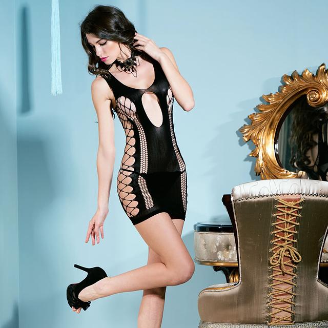 包臀诱惑 情趣内衣女式透明镂空紧身网衣包臀