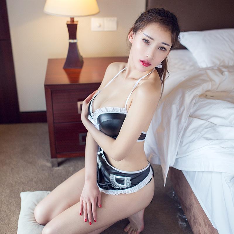 情趣内衣女仆装黑色性感蕾丝边