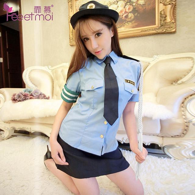 性感帅气扮演警察制服角色扮演套装