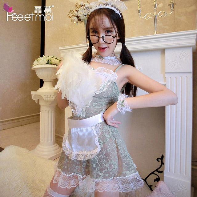 性感蕾丝女佣装制服诱惑镂空女仆套装成人情趣内衣