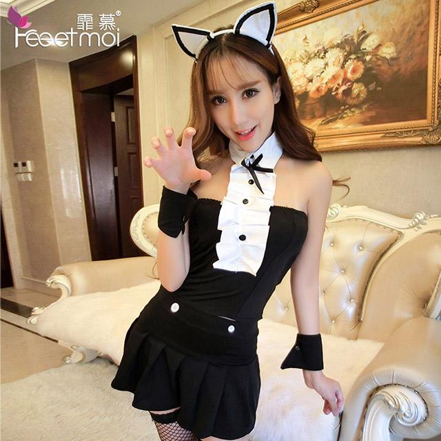 性感睡裙猫耳朵游戏扮演制服诱惑套装成人情趣内衣
