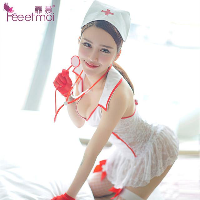 欧美护士制服诱惑套装手套成人性感情趣内衣