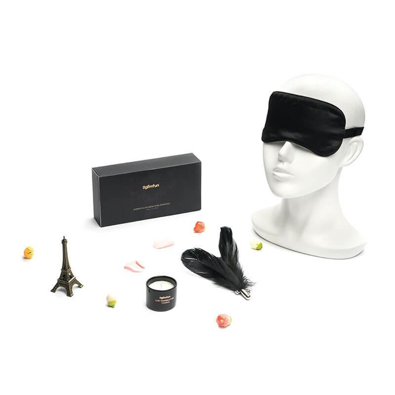 Roomfun房趣 娇媚眼罩面罩蒙眼羽毛调情蜡烛sm道具调教另类游戏套装