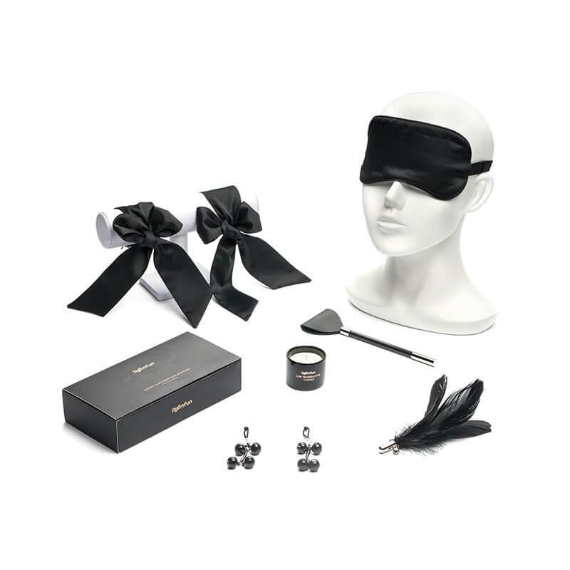 Roomfun房趣 香尼眼罩面罩轻情趣套装 羽毛调情用品蜡烛乳夹乳头刺激