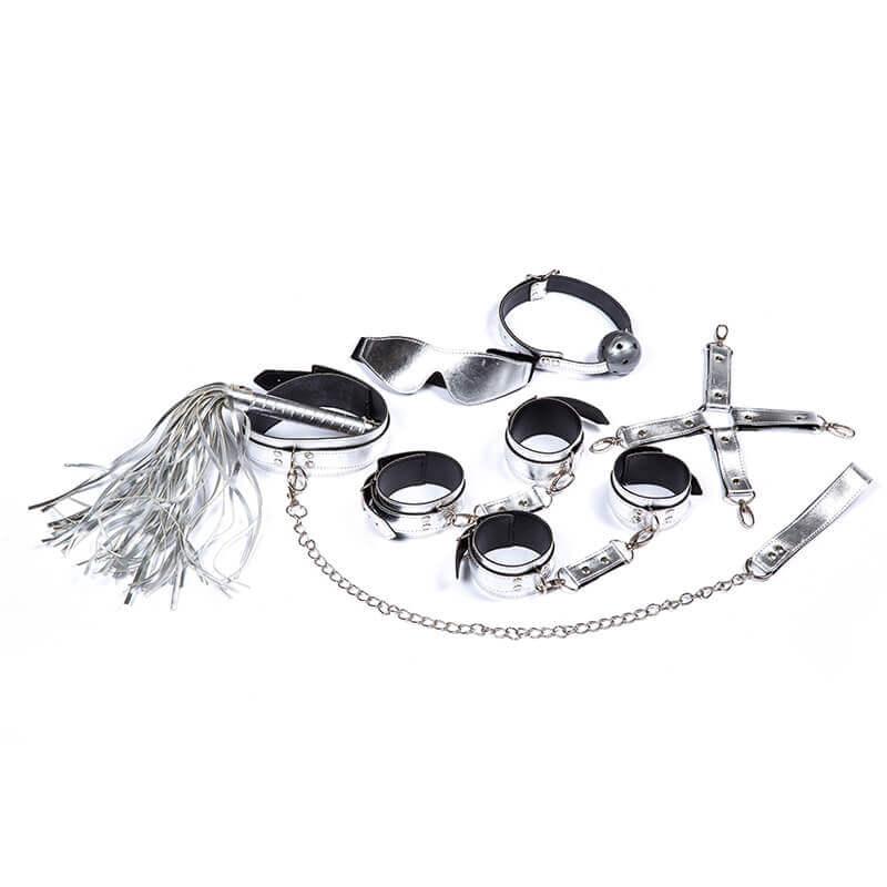 Roomfun房趣 半月环七件套装口罩口塞口球项圈牵引 SM另类情趣辅助性捆绑游戏