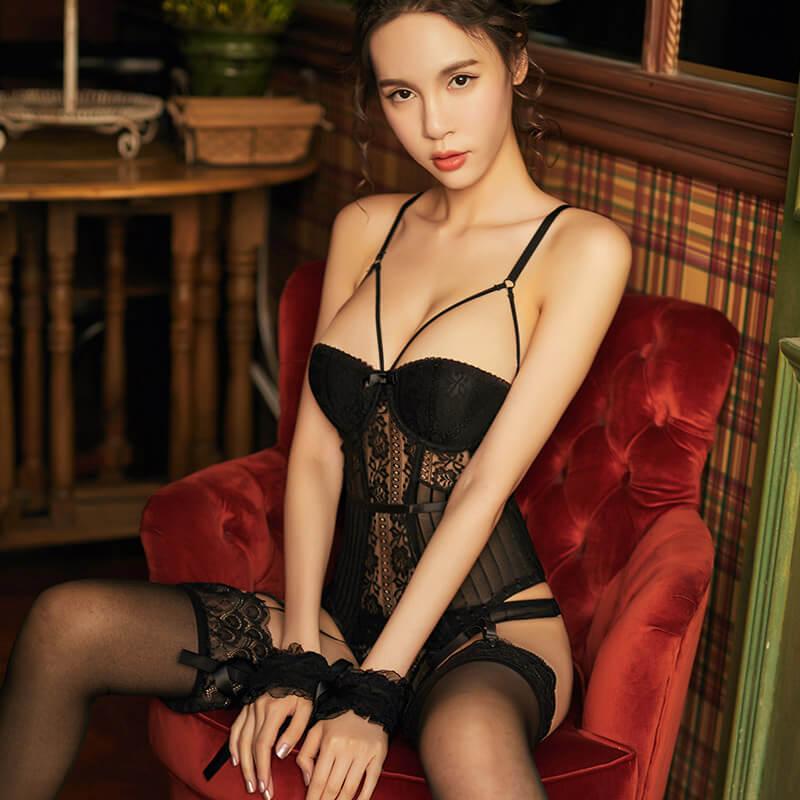 宫廷复古束身马甲性感套装后背可调棉垫修身激情套装诱惑情趣内衣钢托